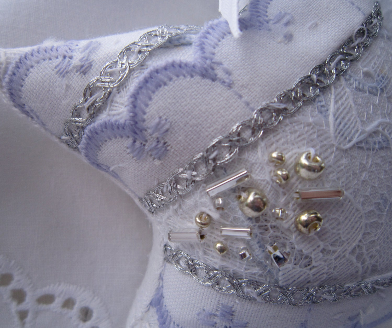 Синий и серебряный Потертый звезда