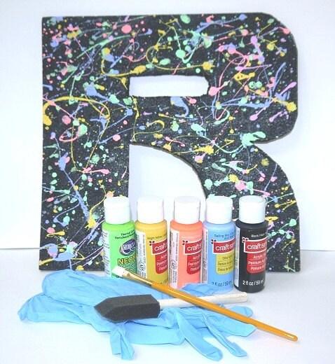 Letter Art Kit - Splatter Paint DIY Letter Art