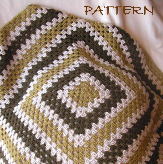 Crochet Patterns Granny Square Baby Blankets : BABY GRANNY SQUARE CROCHET PATTERN Crochet For Beginners
