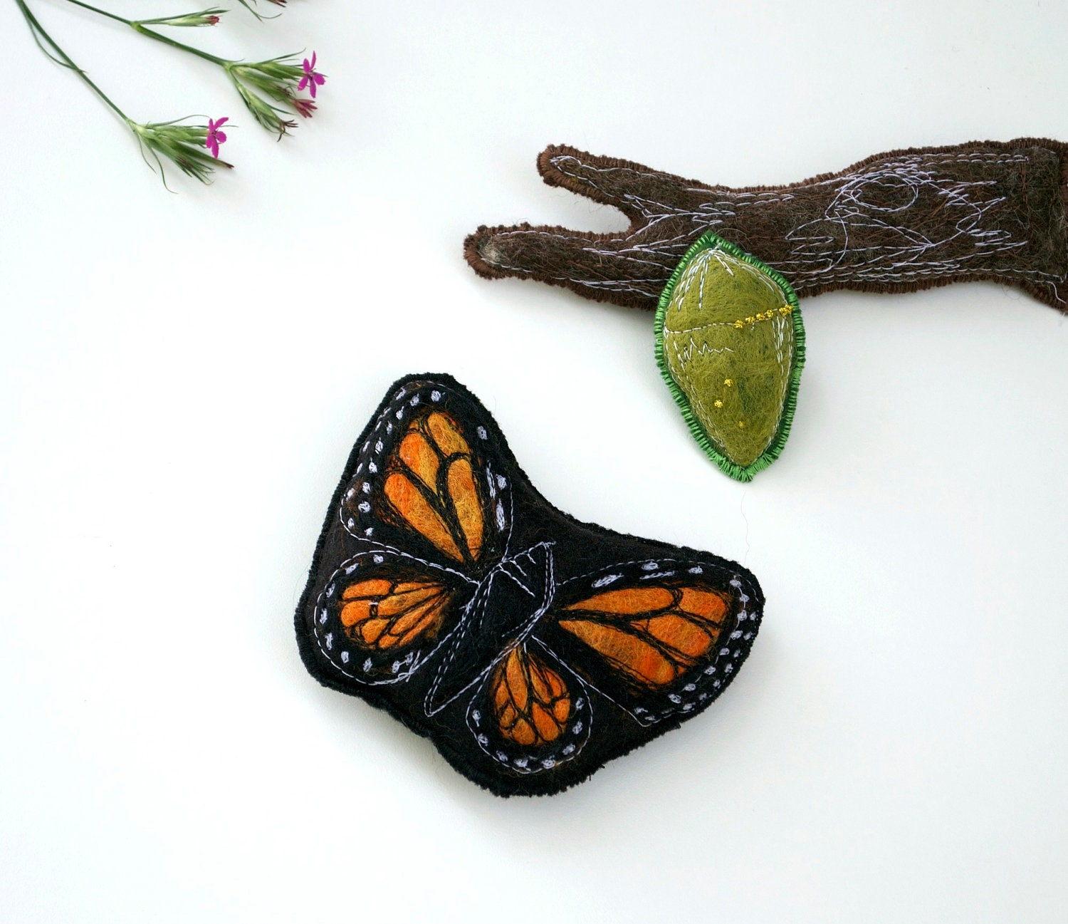 Handmade Montessori Work - Magnetic Monarch Butterfly Life Cycle. Made to Order. - TheHandmadeClassroom