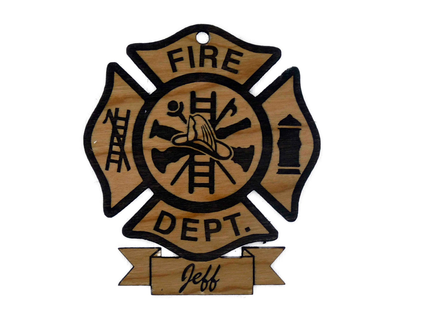 Custom Personalized Firefighter Christmas Ornament FREE Shipping