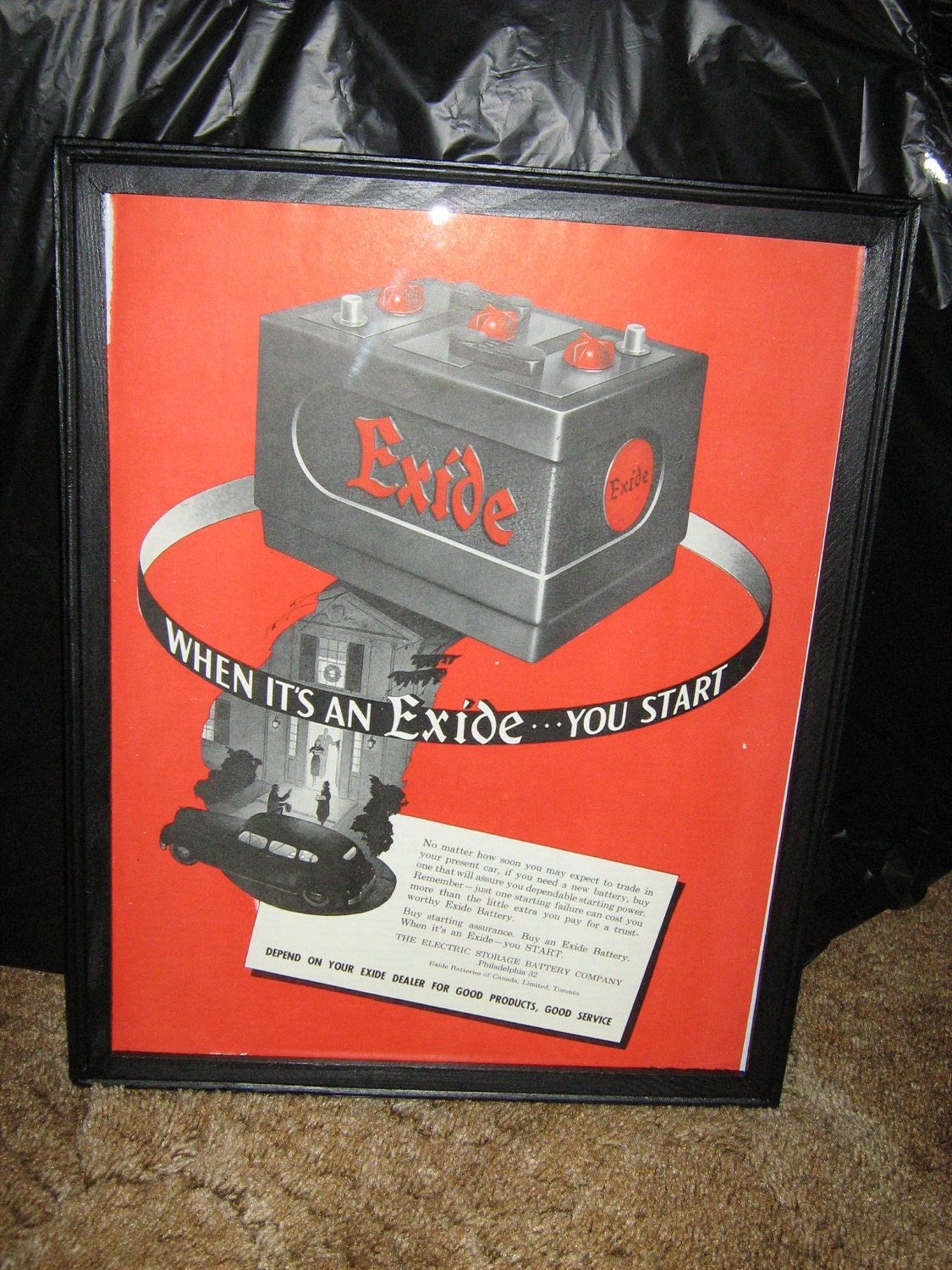 vintage exide battery ad