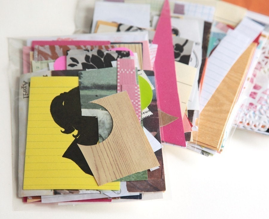Mini Paper Scrap Pack, Collage and Inspiration Pack