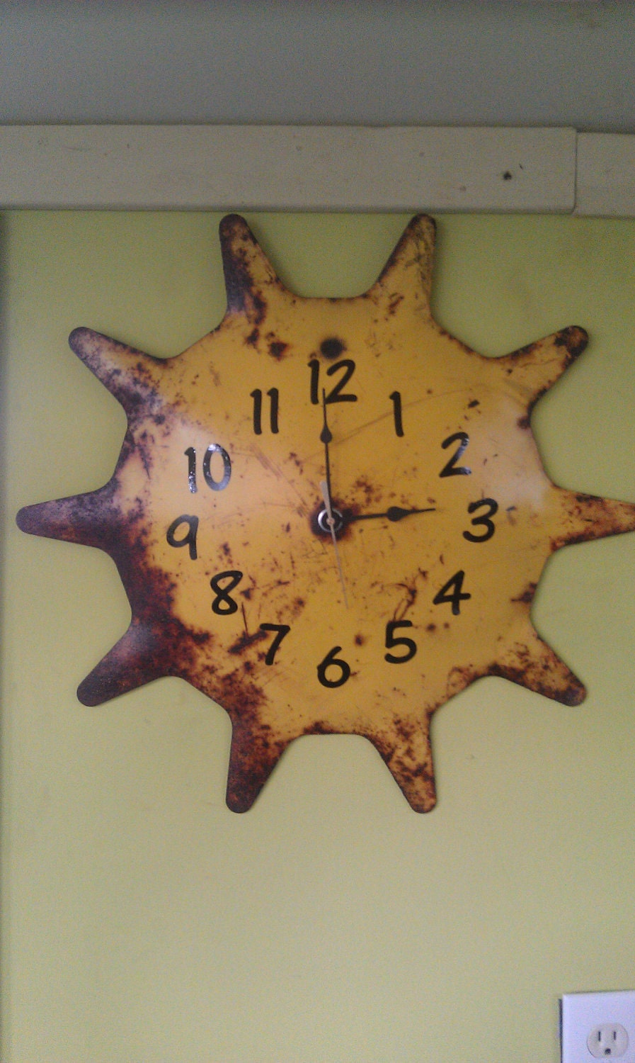 Recycled Clock From Old Farm Disk by JunkFX FREE SHIPPING - Junkfx