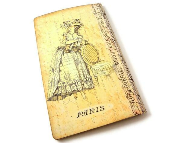 Париж Moleskine Journal, Эйфелева башня Journal, Vintage Париже Moleskine журнал