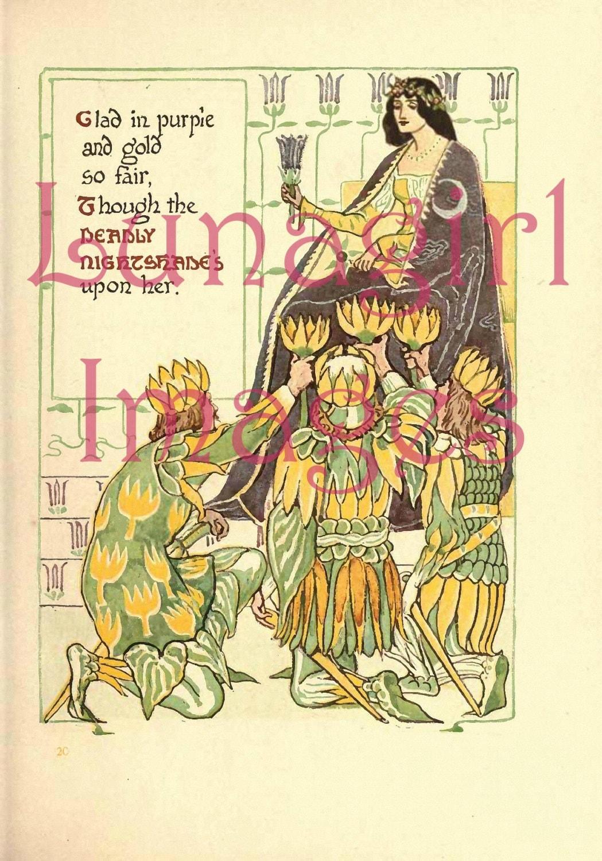 Lunagirl PICTURE Books - 16 Complete Books illustrated Walter Crane in Printable Images