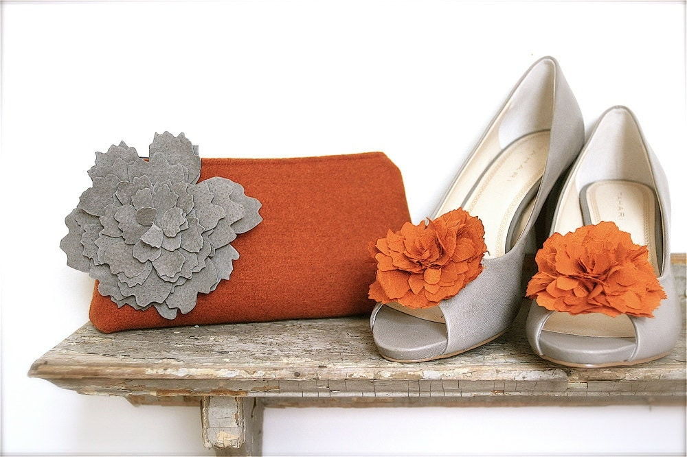 wool suede clutch.....design your own fall acceossory