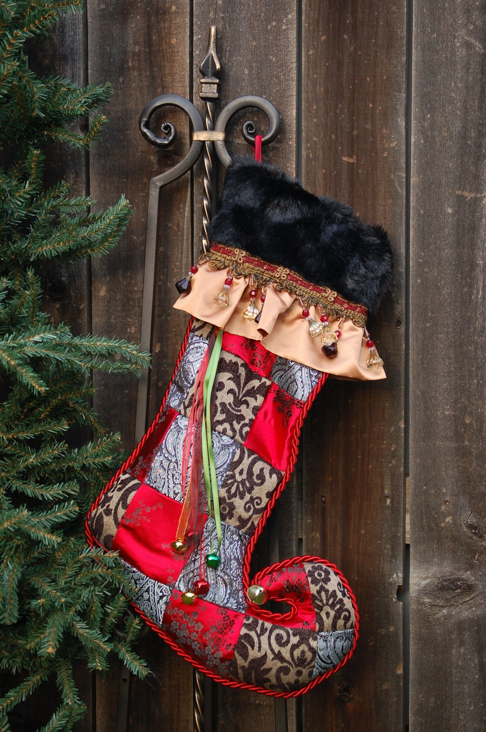 Harlequin Christmas stocking 1020