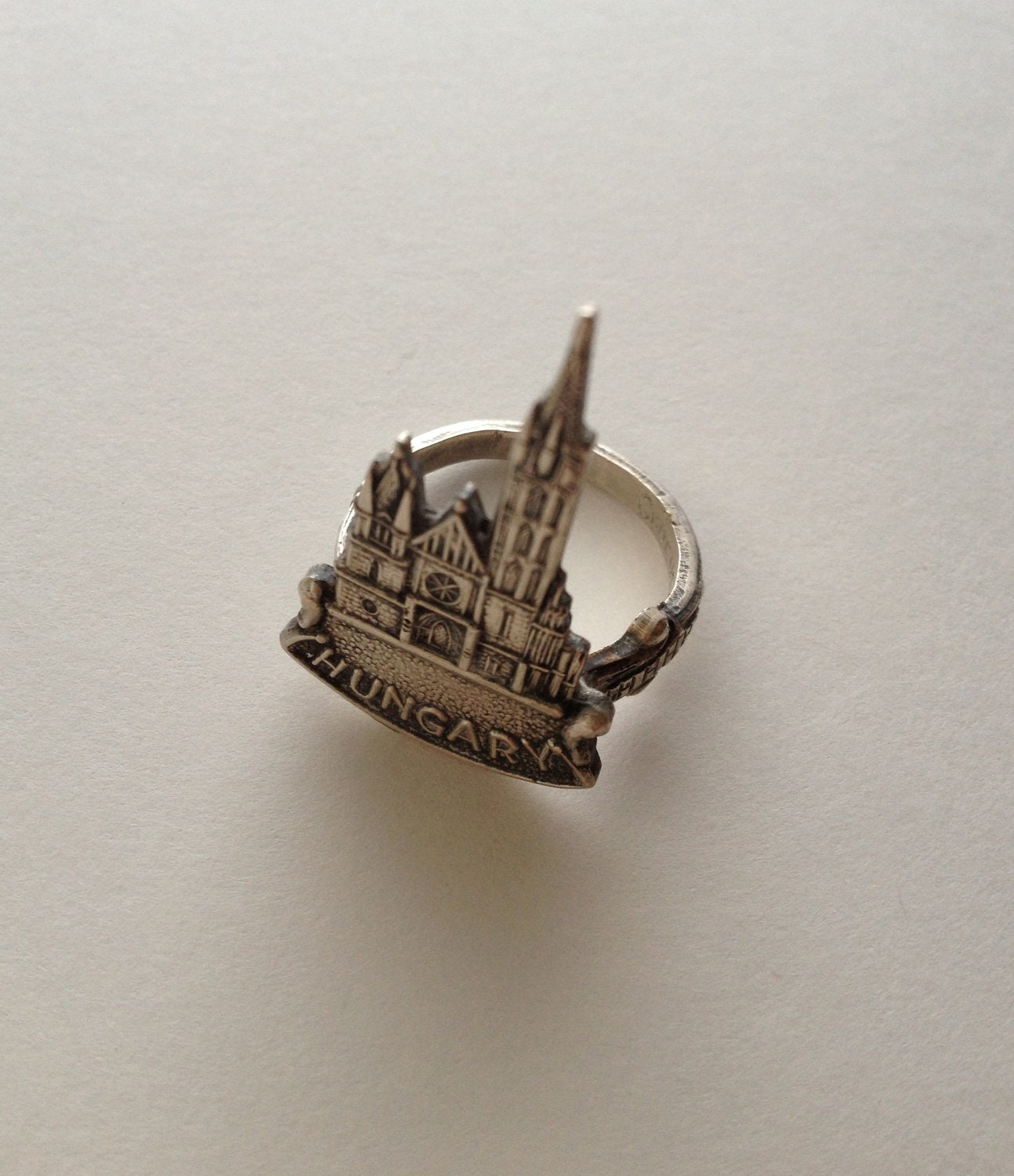 Hungary Church Charm Spoon Ring
