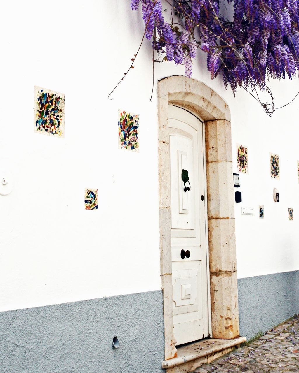Portugal Photography - A Door in Portugal - Portuguese Door Print - Home Decor - White Photo - Travel Photography - Portugal Art - VitaNostra