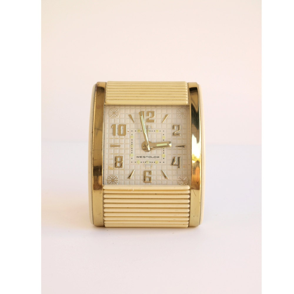 Mod Mad Men Travel Clock - Wind Up