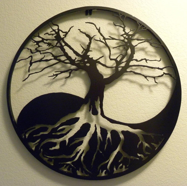 Notan Yin Yang Tree Trees Pinterest