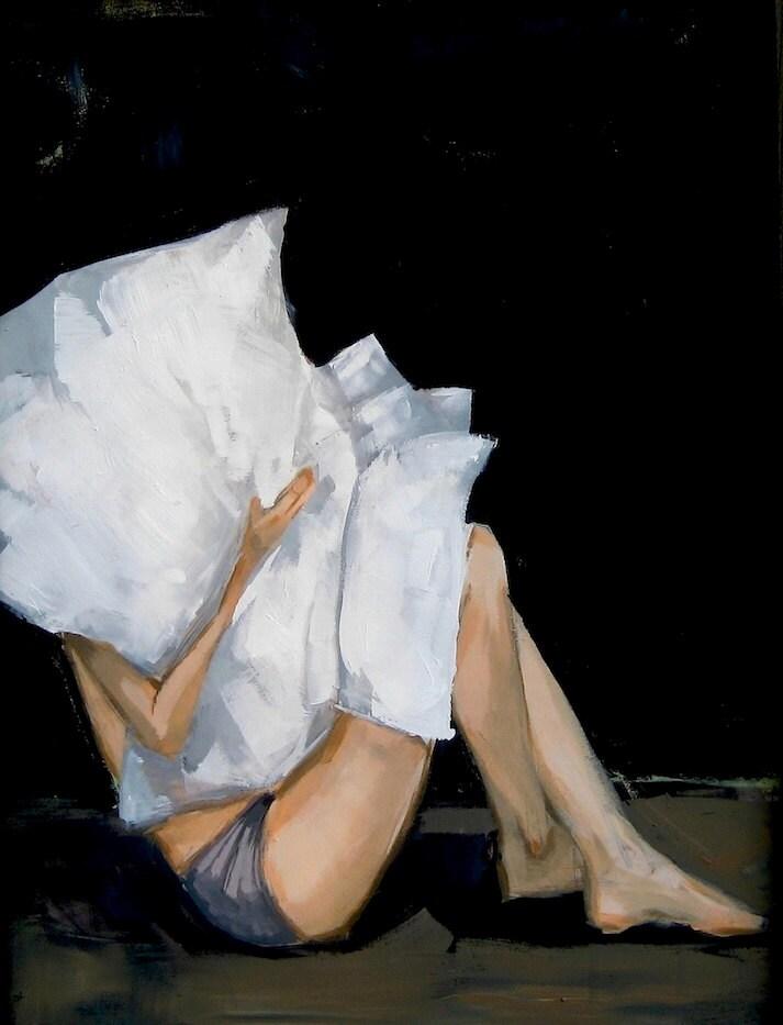 Quiet .  art print of acrylic painting - tastesorangey