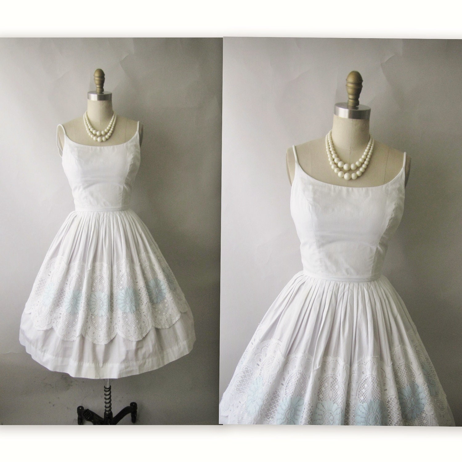 Casual White Cotton Wedding Dresses 95