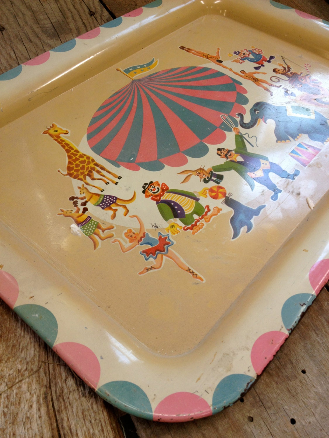 Vintage Circus Tray