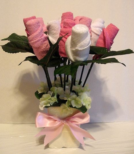 Pink Baby Washcloth Bouquet