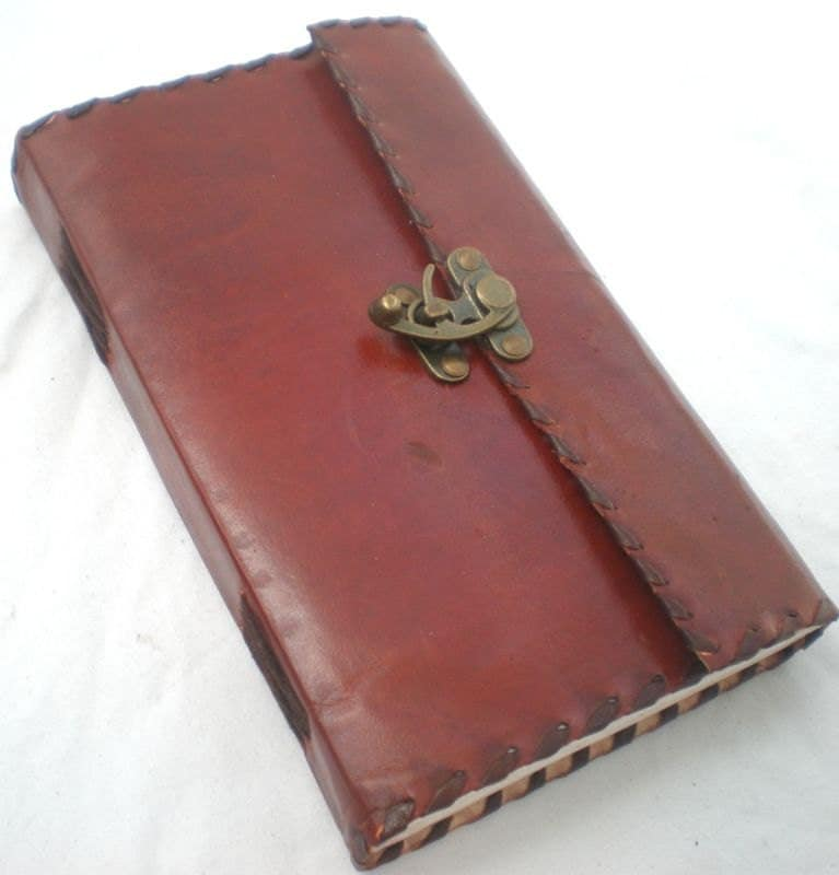 Handmade Leather Notebook Diary Journal - Vintage Style - Poetry and Secret book - leathercreations110