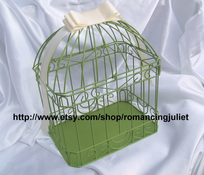Custom Colors Wedding Card Box Bird CagePainted in ANY Color to Match