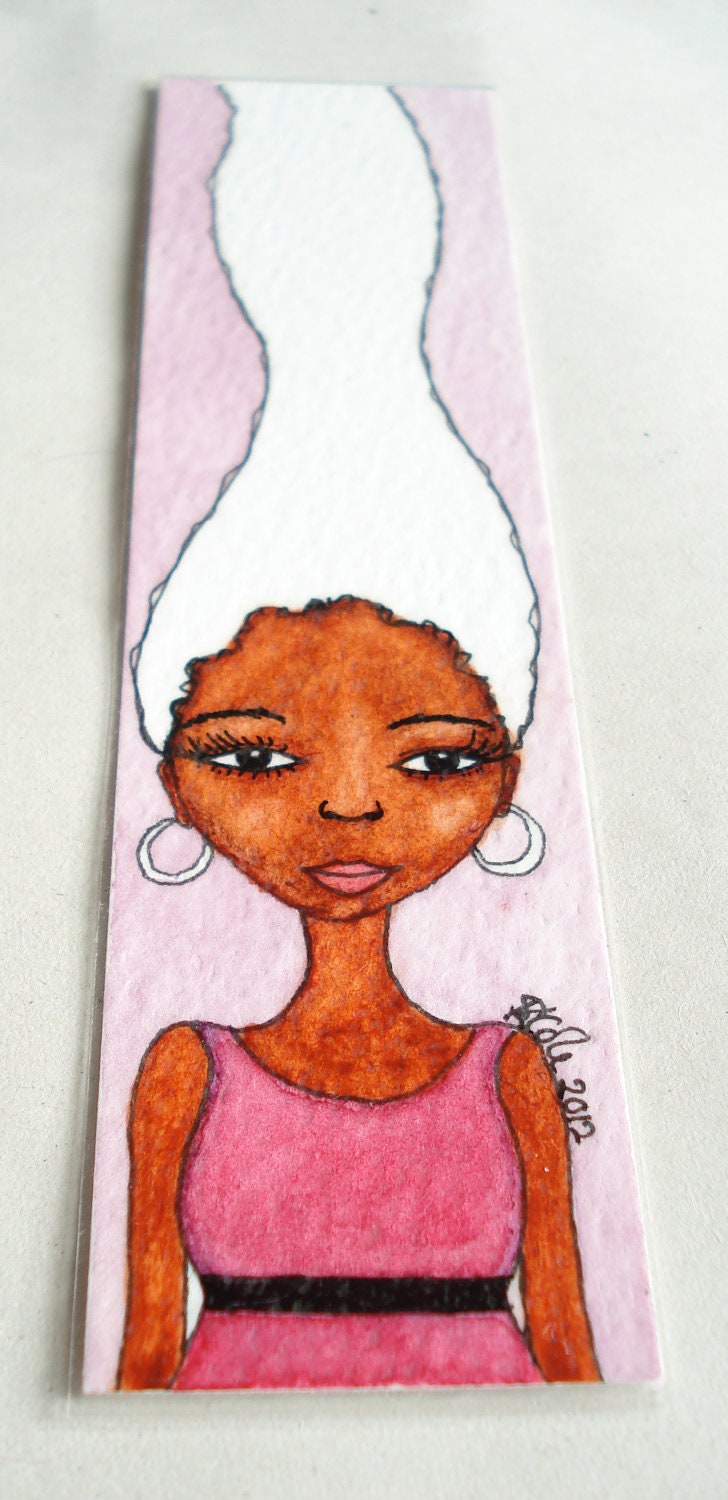 Handmade Watercolour Bookmark