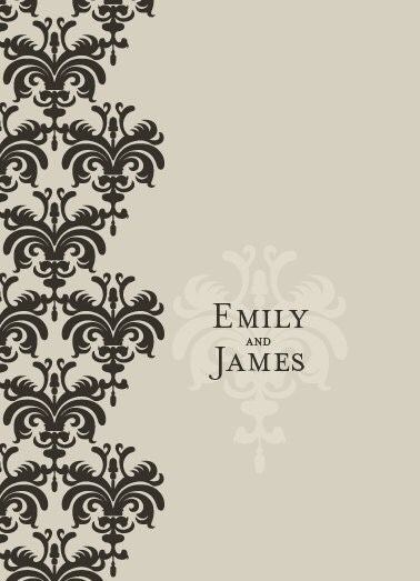 Damask Design Wedding Invitations Save the Dates RSVP 39s