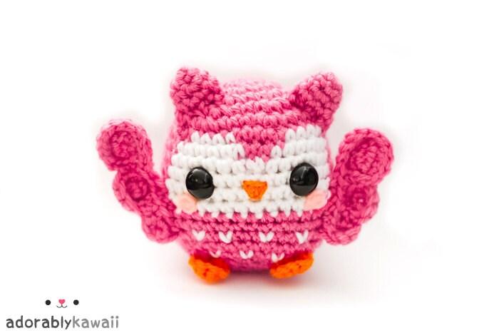 Kawaii Pink Owl Arigurumi