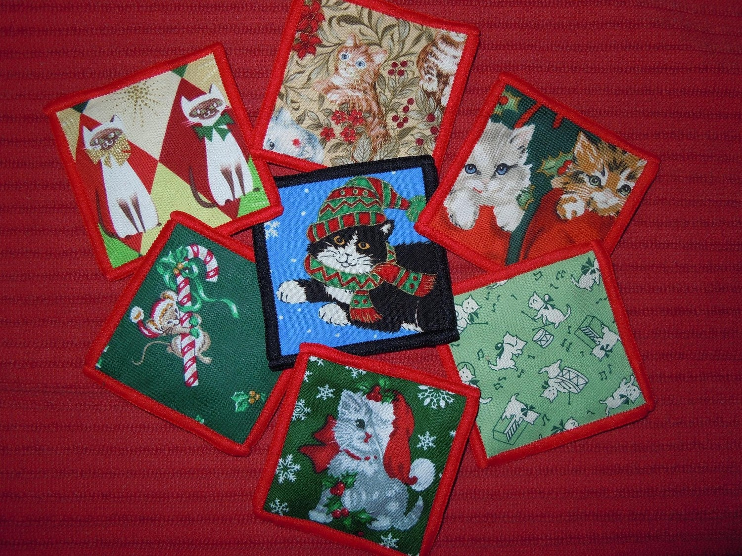 Set of Six Christmas Catnip Sac Toys