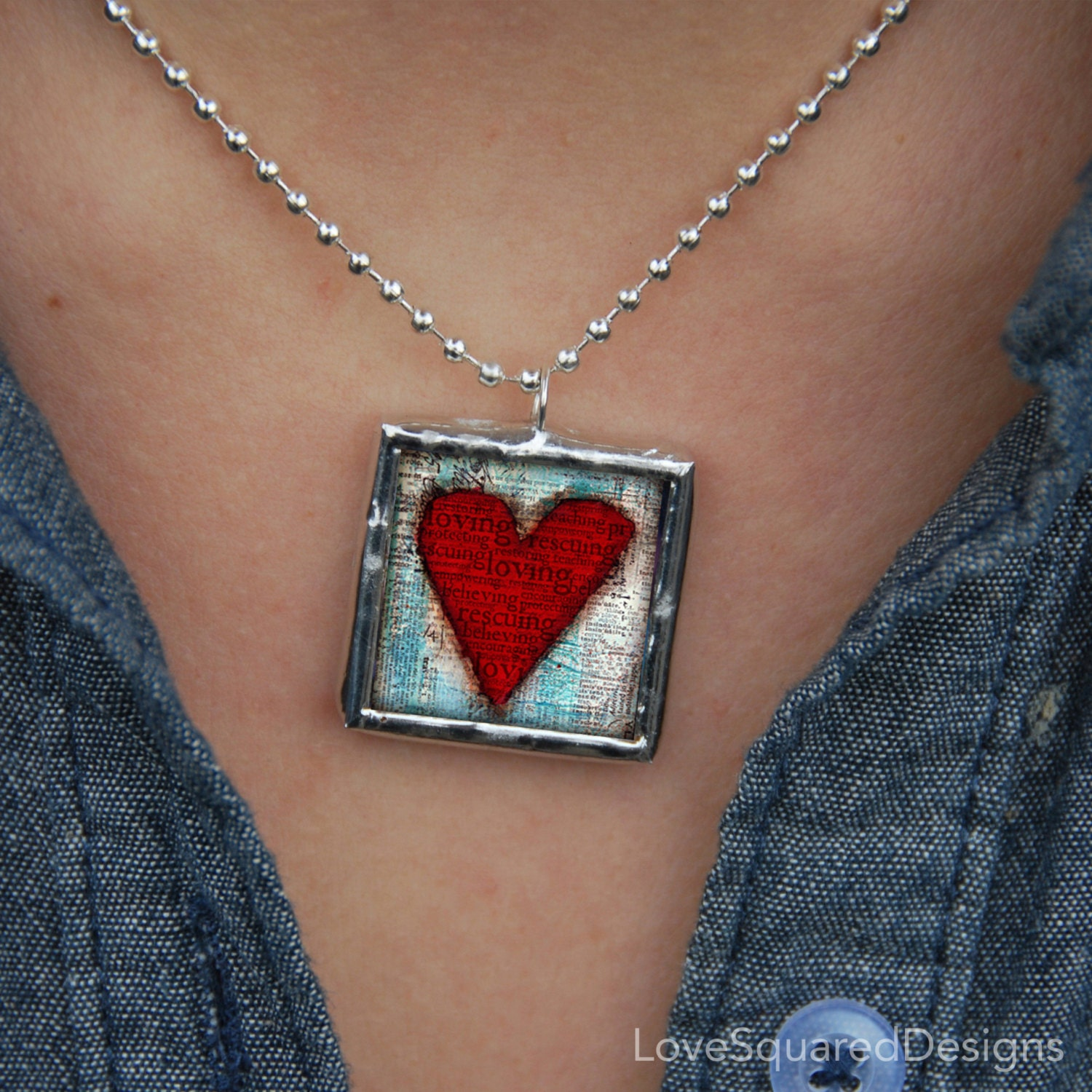 She's Worth It Heart Pendant , You are loved, Fight human trafficking