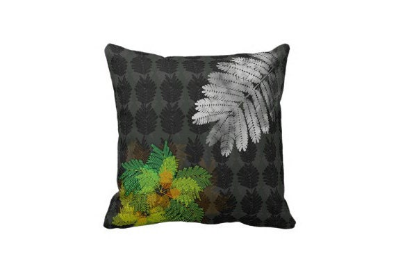"Throw Pillow - ""Glowing Mimosa"" - MaryLDolanDesigns"
