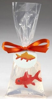 Wonderful toy goldfish in a bag glycerin soap - shopfunsoap
