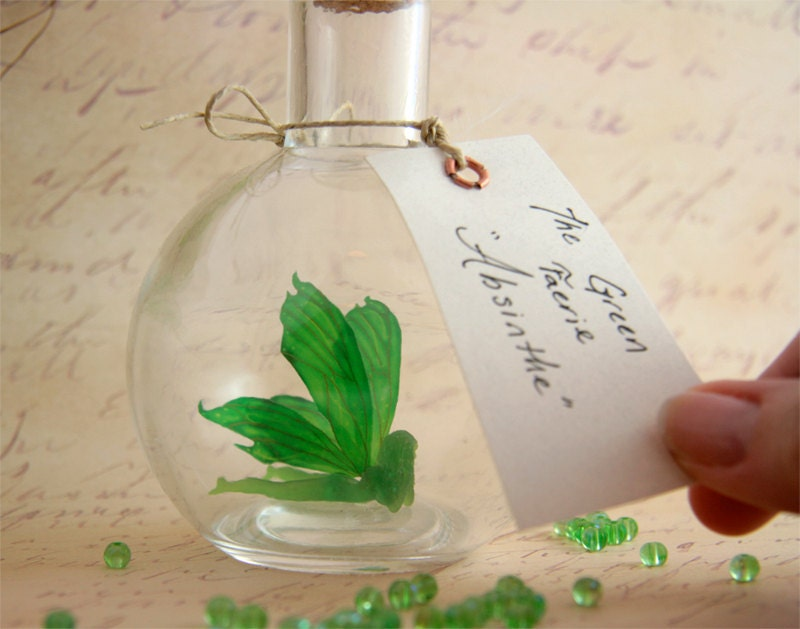 Faerie bottle - Absinthe, The Green Fairy