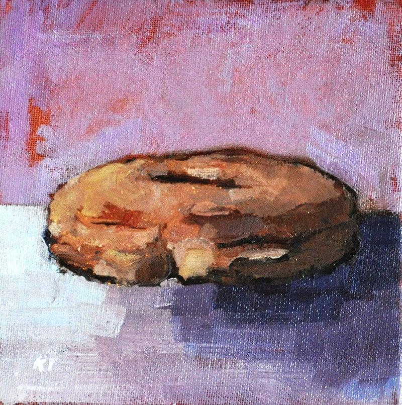Donut still life painting