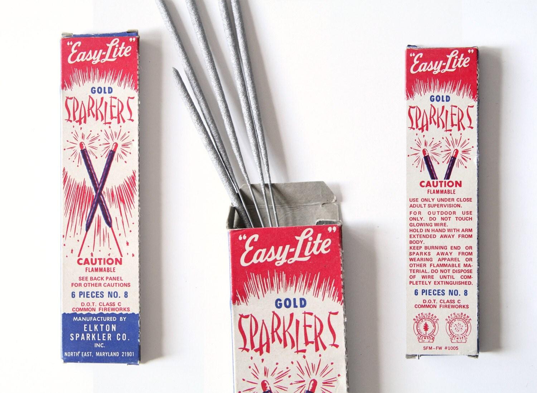 Vintage Sparklers - Vintage Firework Packaging