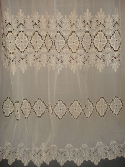 scalloped sheer embroidered curtains - ShopWiki