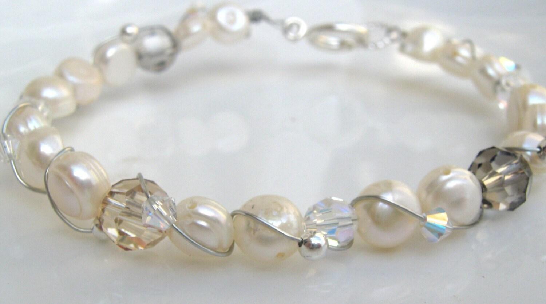 pearl wire twisted bracelet