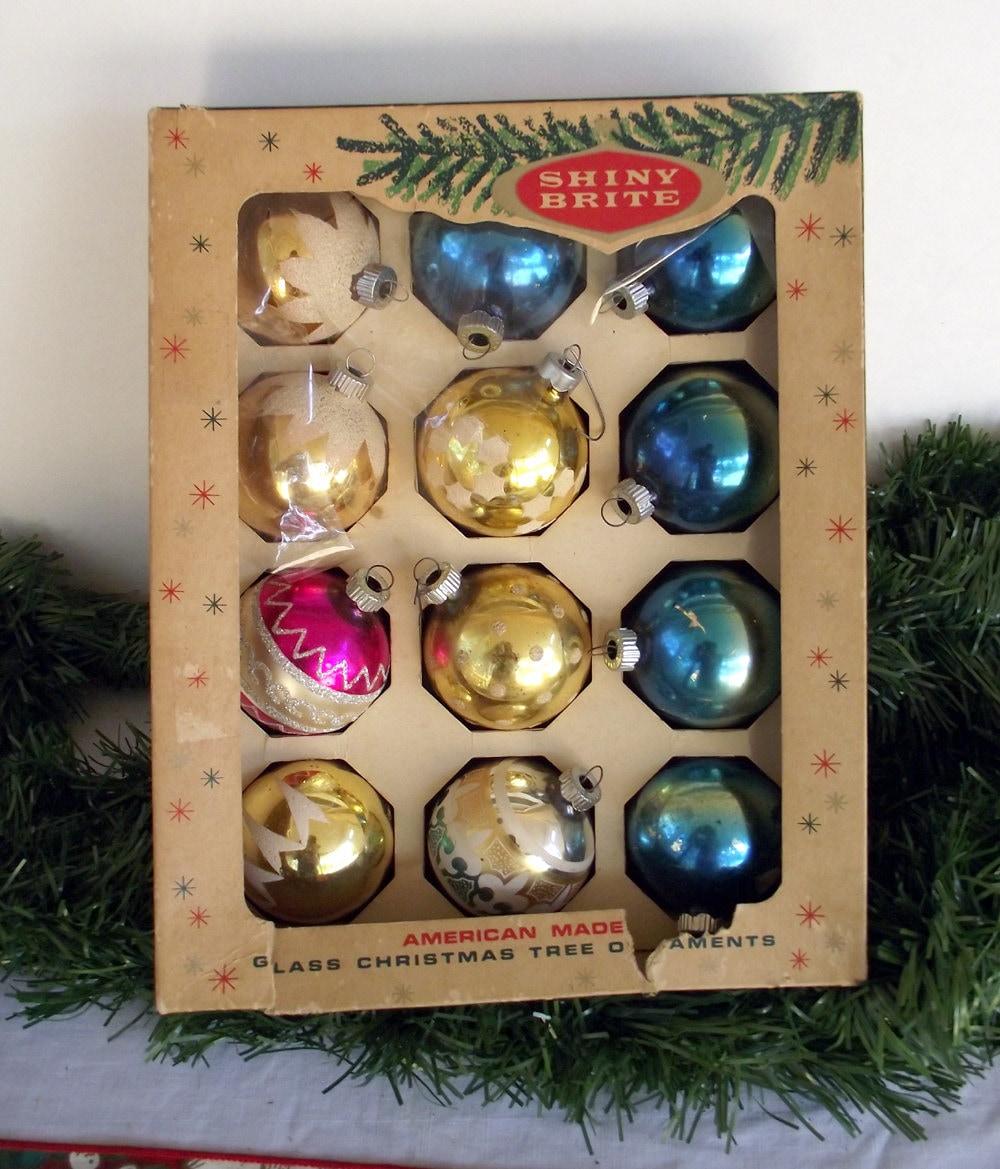 Vintage Shiny Bright Christmas Ornaments Mercury Glass