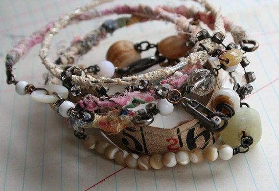 The Navigator - wrapped and stack Gypsy Bracelets