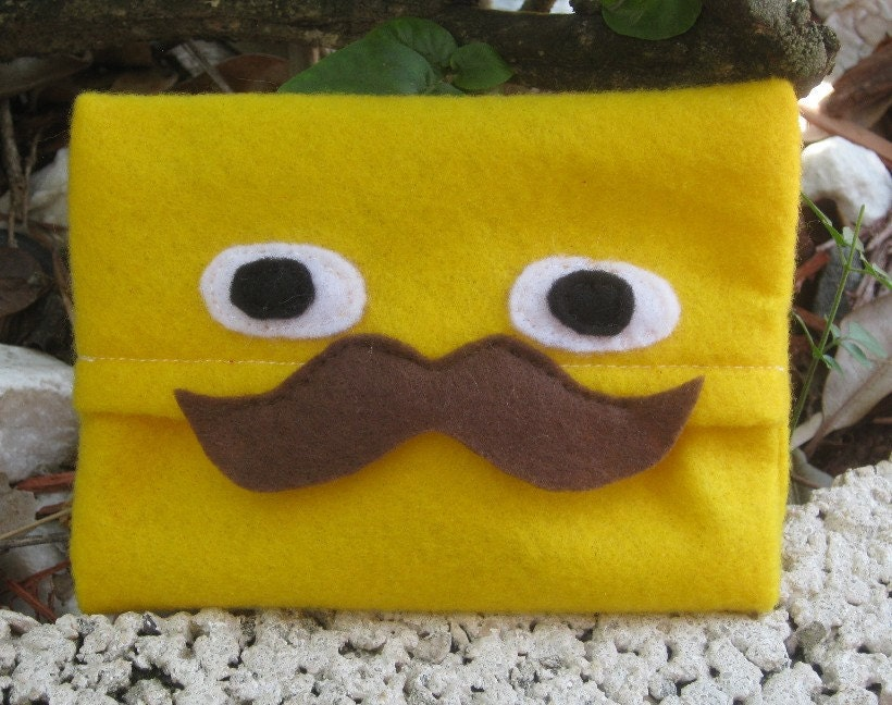 Stache Pocket Pals Tiny Tissue Cozy/Holder by PinkFrog4U on Etsy from etsy.com