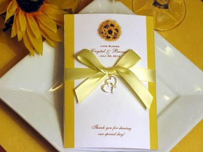 LMK Gifts introduces its one of a kind SUNFLOWER wedding popcorn favors