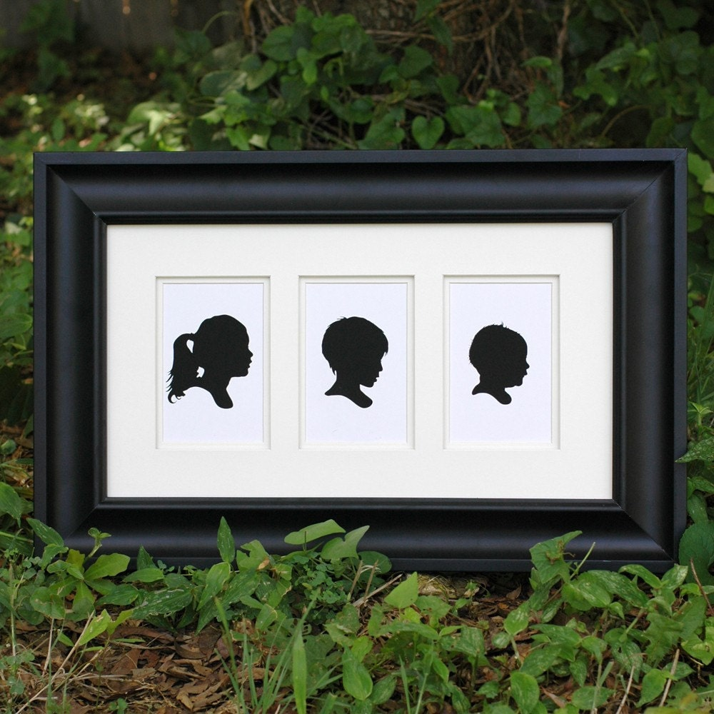 Three Custom Silhouette Prints