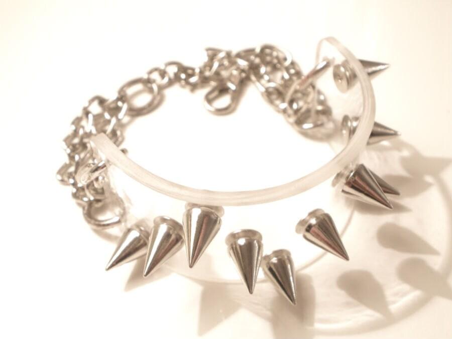 FREE SHIPPING Acrylic Handmade Silver Studs Bracelet WAVE