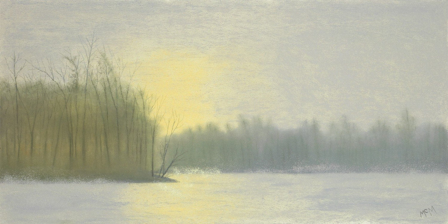 Winter Solstice 8x16 Giclee of pastel painting - garrymcmichael