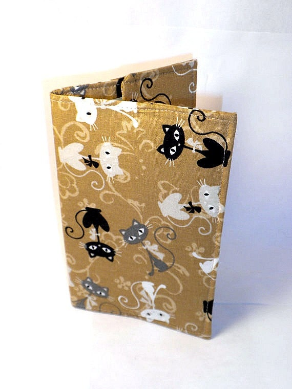 Cat Passport Case tan cat passport cover holder