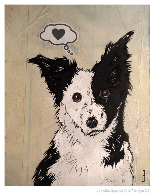 Love - Border Collie - TheArtofJeffHulligan
