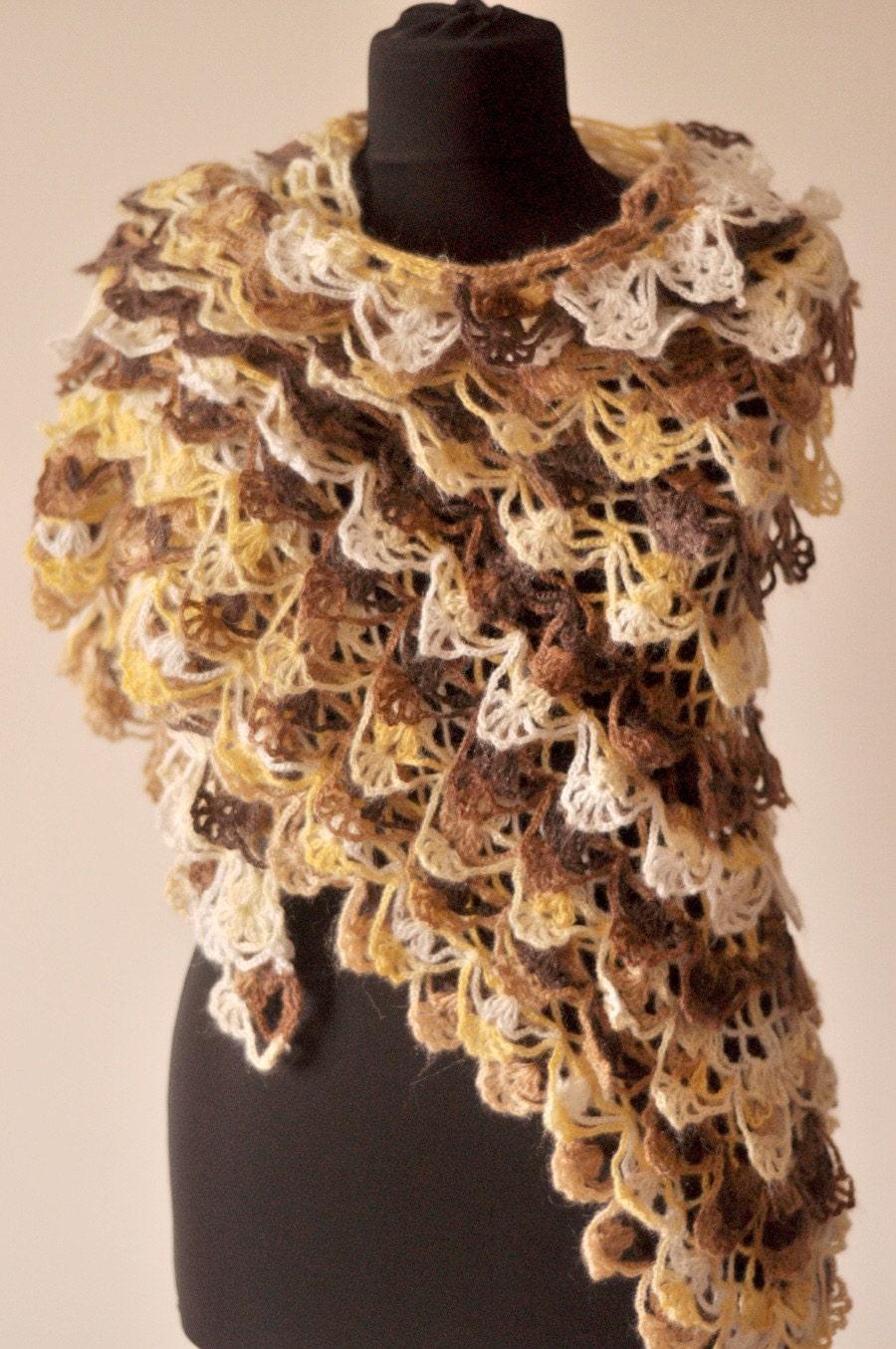 دریای باغ موی مرغوز چند رنگ شال handknit