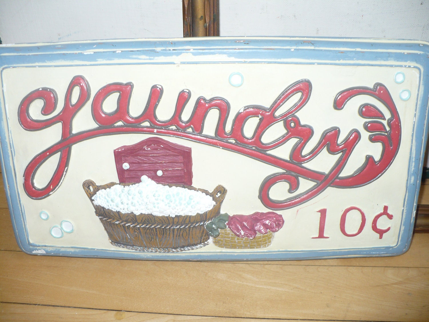 Vintage Laundry Room Decor Photograph | Laundry 10 cents Sig