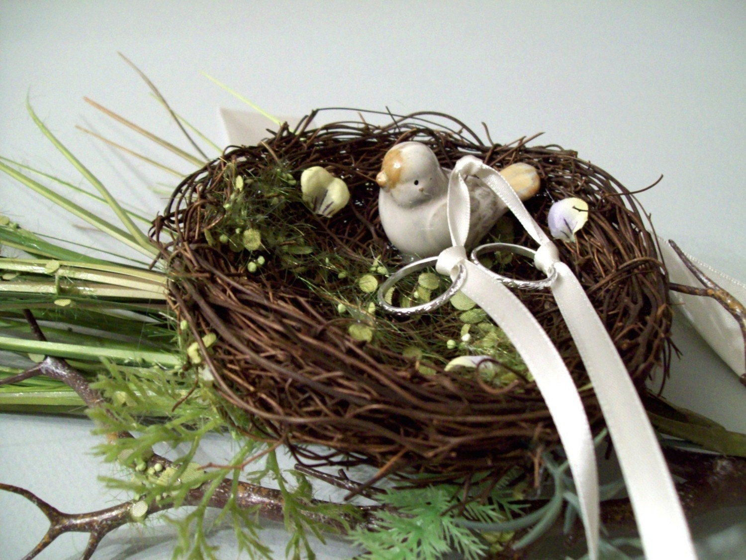 Ring Bearer Nest with Bird and Branch