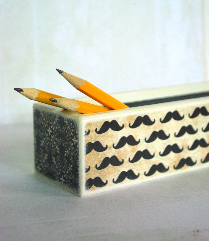 Mustache Pencil Box - Movember - Mmim