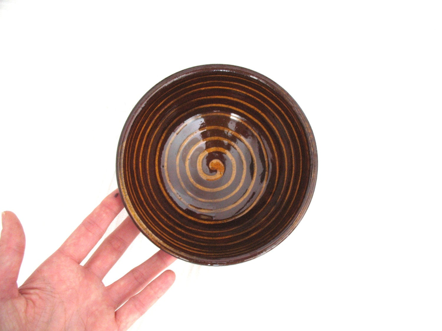 snack bowl - ceramic bowl - glazed pottery - wheel thrown bowl - rustic decoration - ready to ship - BiscuitCuit