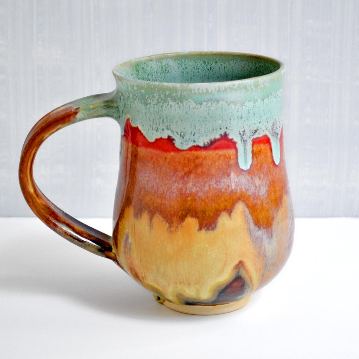 Handmade Pottery Mug Seconds Sale White Ceramic Cup By