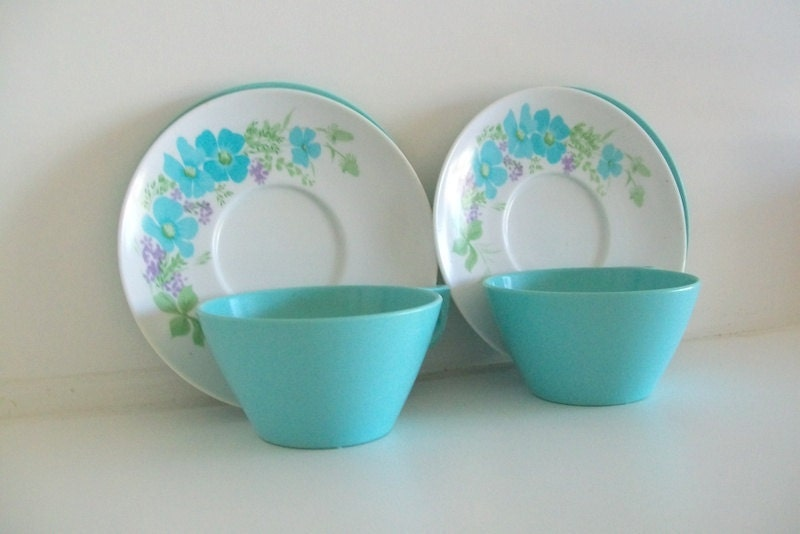 Melmac Blue Dish Set